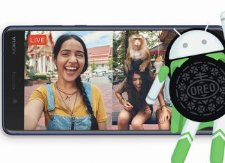 Nokia 8 pametni telefon i Android Oreo logotip