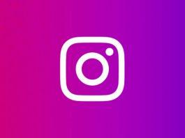 Instagram logotip na rozoj pozadini