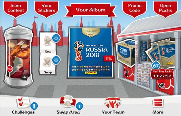Panini virtualni Album za Svjetsko prvenstvo u nogometu u Rusiji 2018