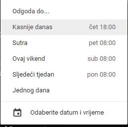 Gmail odgoda
