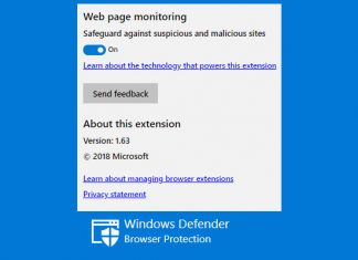 Windows defender zaštita preglednika