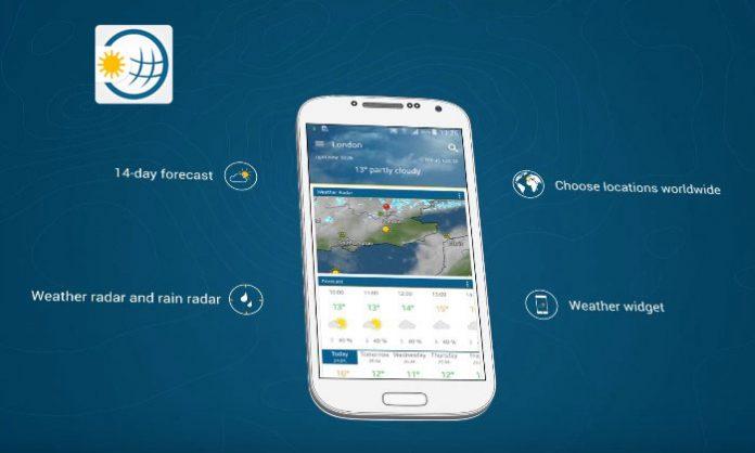 Vrijeme & Radar naslovna slika s mobilnog uređaja aplikacije