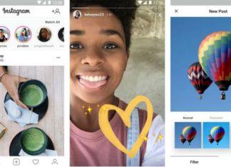 Instagram Lite sučelje aplikacije