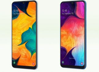 Samsung Galaxy A30 i A50 zasloni
