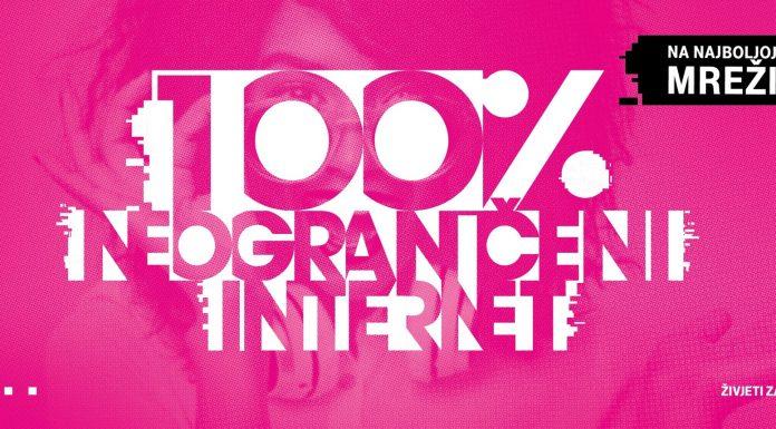 100% neograničeni internet