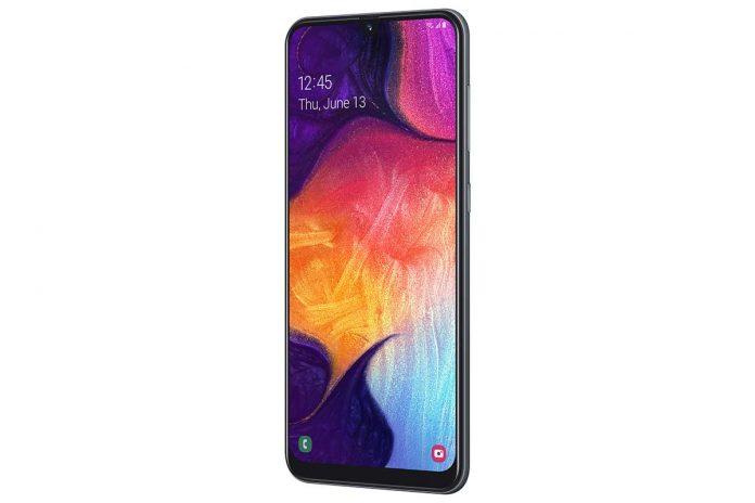 Samsung Galaxy A50 dizajn telefona