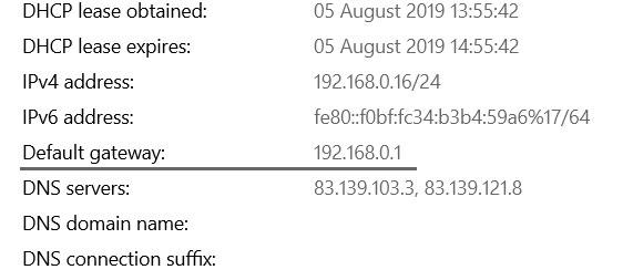 Zadana IP adresa
