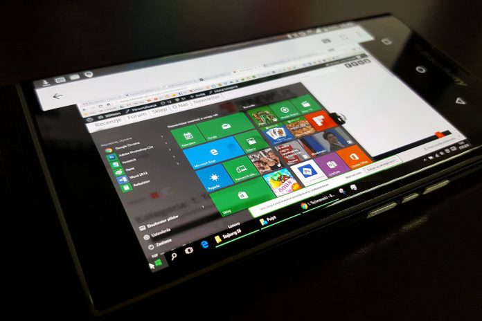 Windows 10 na tabletu