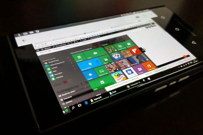 Windows 10 na tabletu