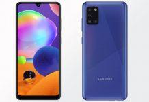 Samsung Galaxy A31 prednja i stražnja strana